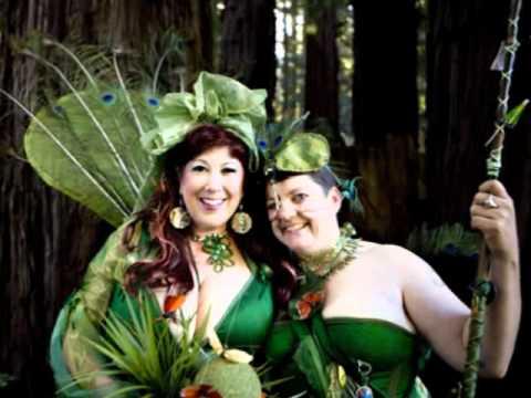"""Annie Sprinkle  & Beth Stephens' """"True Colors"""" EcoSexual Purple Wedding"""