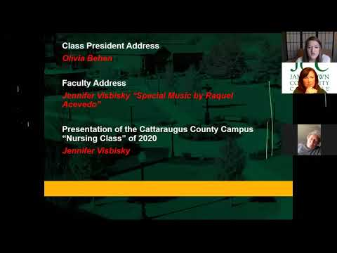 """Jamestown Community College """"Virtual Pinning Ceremony"""" for Olean Campus"""