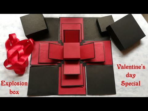Valentine S Day Special Explosion Box Explosion Box Valentine S Day Gift Ideas Youtube