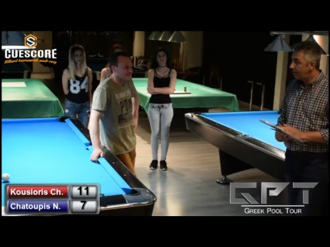 Royal Billiards Club B' Division Tournament (Kousioris Ch. - Chatoupis N. )  The Final Match