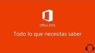 Precio, Novedades y Requisitos de Microsoft Office 2016