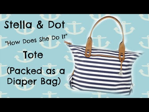 Stella Dot How Does She Do It As A Diaper Bag
