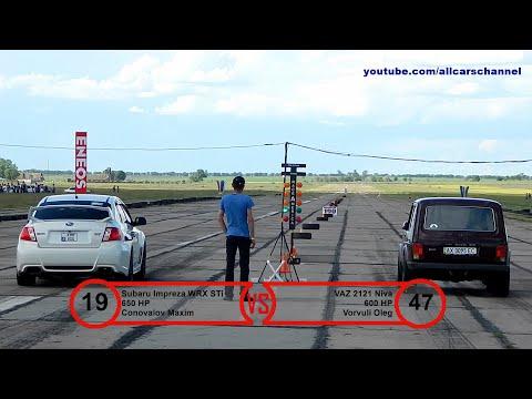 Drag Day Tiraspol 2016. Class Street 3. S6 V8 / GTR / Niva / Impreza STi