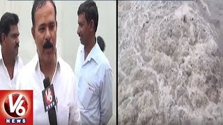 Rise in Tungabhadra Water-level in Mahbubnagar After Heavy Discharg...