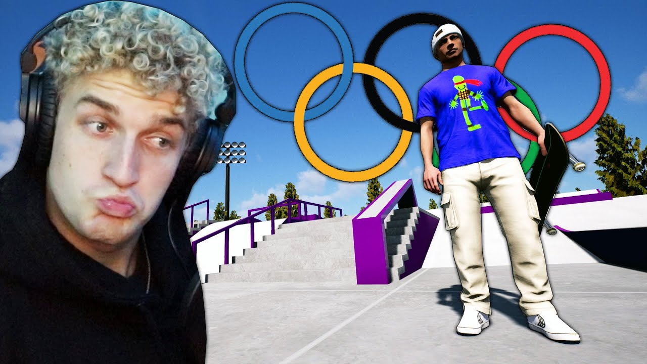 I GOT TO SKATE IN THE TOKYO OLYMPICS (in a video game of course lol) | Session