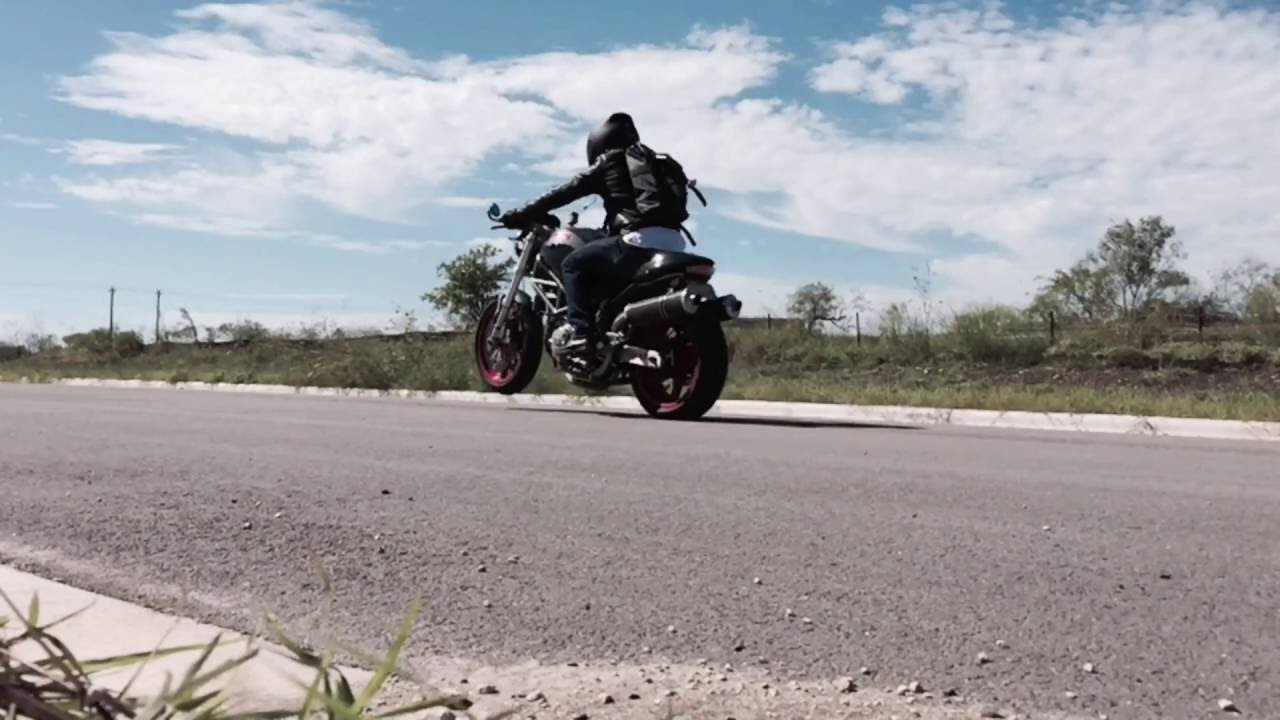 All The Way Up Ducati Monster Wheelies Youtube