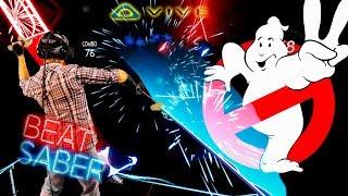 Beat Saber ОХОТНИКИ ЗА ПРИВИДЕНИЯМИ Ghostbusters (Trap Remix) с HTC VIVE