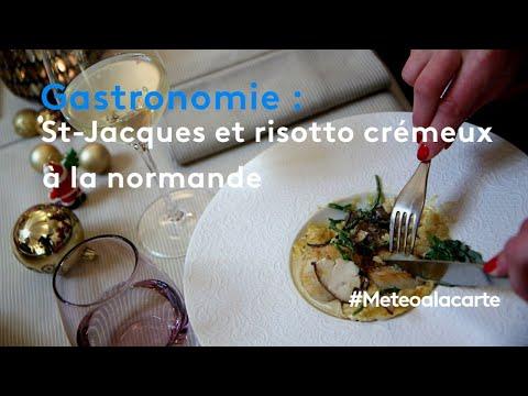 table-de-fêtes-:-saint-jacques-et-risotto-crémeux-à-la-normande---météo-à-la-carte