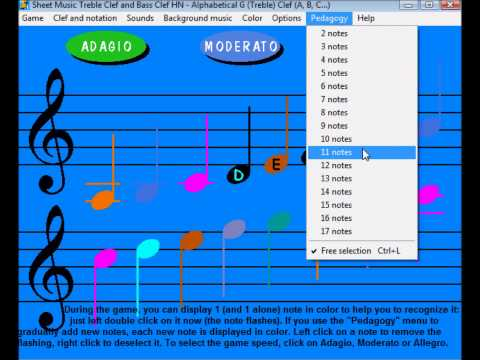 A game to REALLY learn to read music notes in Treble (G) and Bass (F) clef
