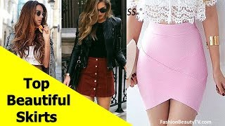 Top 50 beautiful skirts, pencil skirts and best skirts for ladies S3