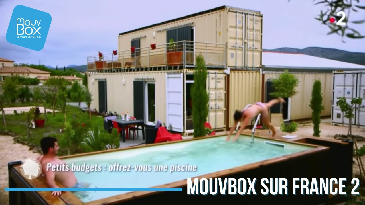 piscine en container maritime youtube. Black Bedroom Furniture Sets. Home Design Ideas