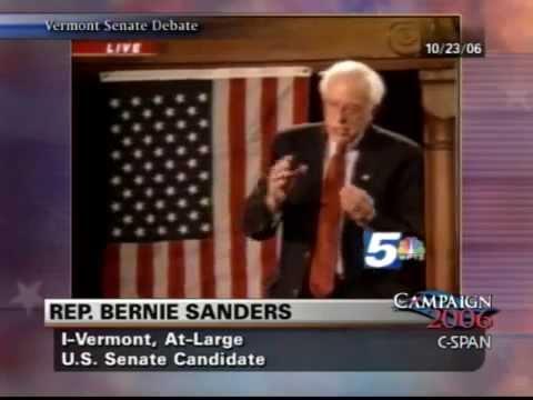 Bernie Sanders Debates Richard Tarrant (R), 2006 Senate Race