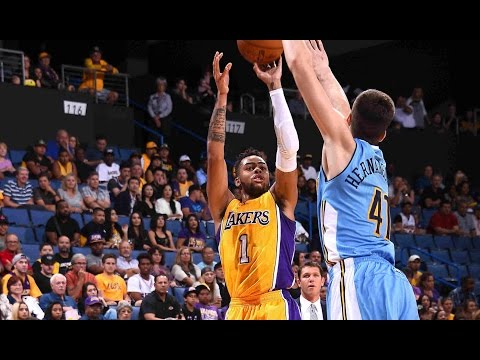 D'Angelo Russell Lights It Up Against Denver with 33 Points