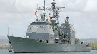リムパック演習(RIMPAC 2014)に参加するタイコンデロガ級巡洋艦(CG-65) [HD]
