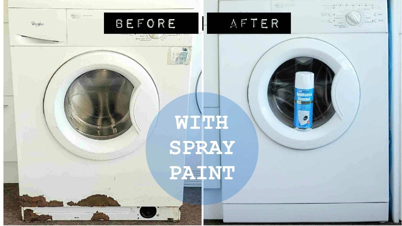 Painting A Washing Machine Rustoleum Appliance Enamel Review Youtube