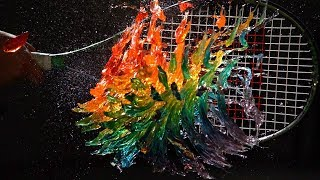 Rainbow Jelly Tennis - The Slow Mo Guys