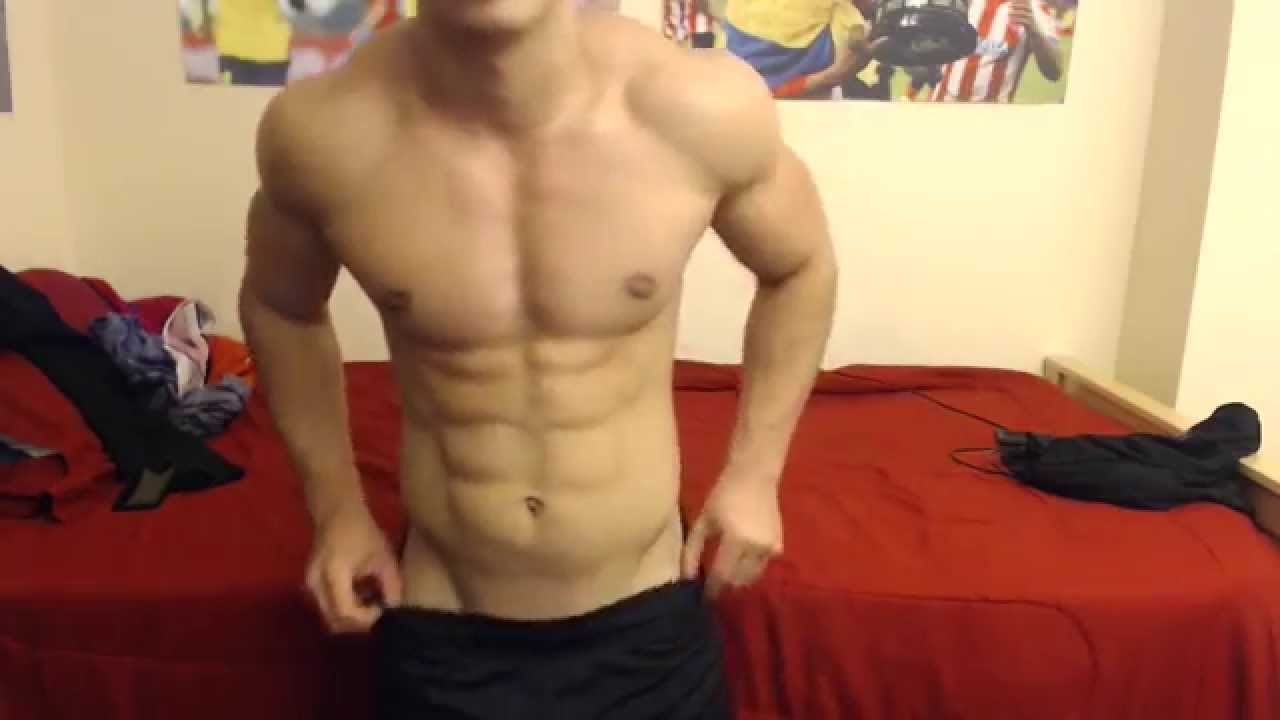 20 years old boy jacking off his 9 inches cock 9