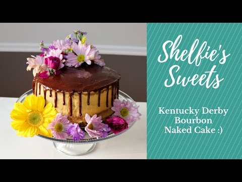 Kentucky Derby Bourbon Naked Cake