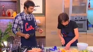 Смак - Ирада Зейналова - Салат из руколлы пармезана, кедровой орешков и апельсина, стейк из сёмги
