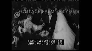 Mussolini's Son Marries Sophie Loren's Sister 221750-05 | Footage Farm