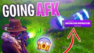 Going AFK Whilst Trading SCAMMERS Spectrolite Ore (RARE ITEM) - Fortnite Save The World