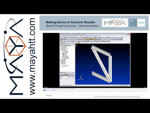 Femap™ Webinar Series: Webinar Part 3: Making sense of FE analysis results
