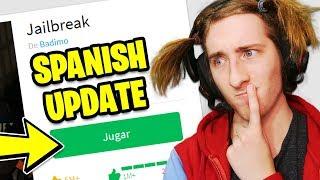 Roblox Jailbreak SPANISH UPDATE! (Playing Jailbreak in SPANISH!)