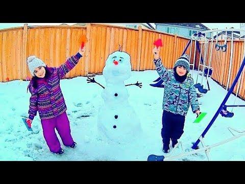 FIZEMOS UM OLAF DE VERDADE! ★ Boneco de Neve do FROZEN  100% REAL com meu Primo Ft CANAL DO DUDU
