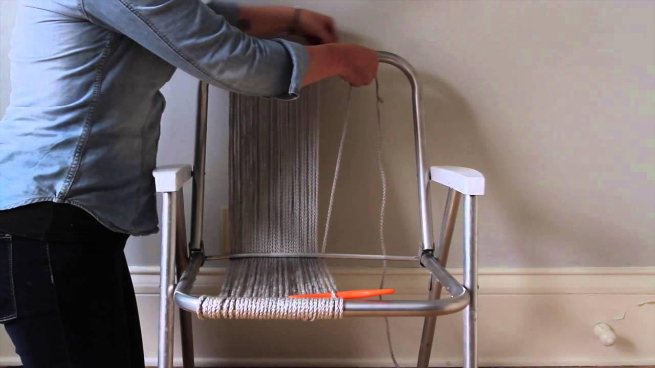 Woven Macram 233 Chair Tutorial Part 1 Youtube
