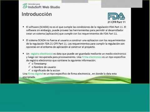 InduSoft Web Studio cumple las regulaciones FDA 21 CFR Part 11