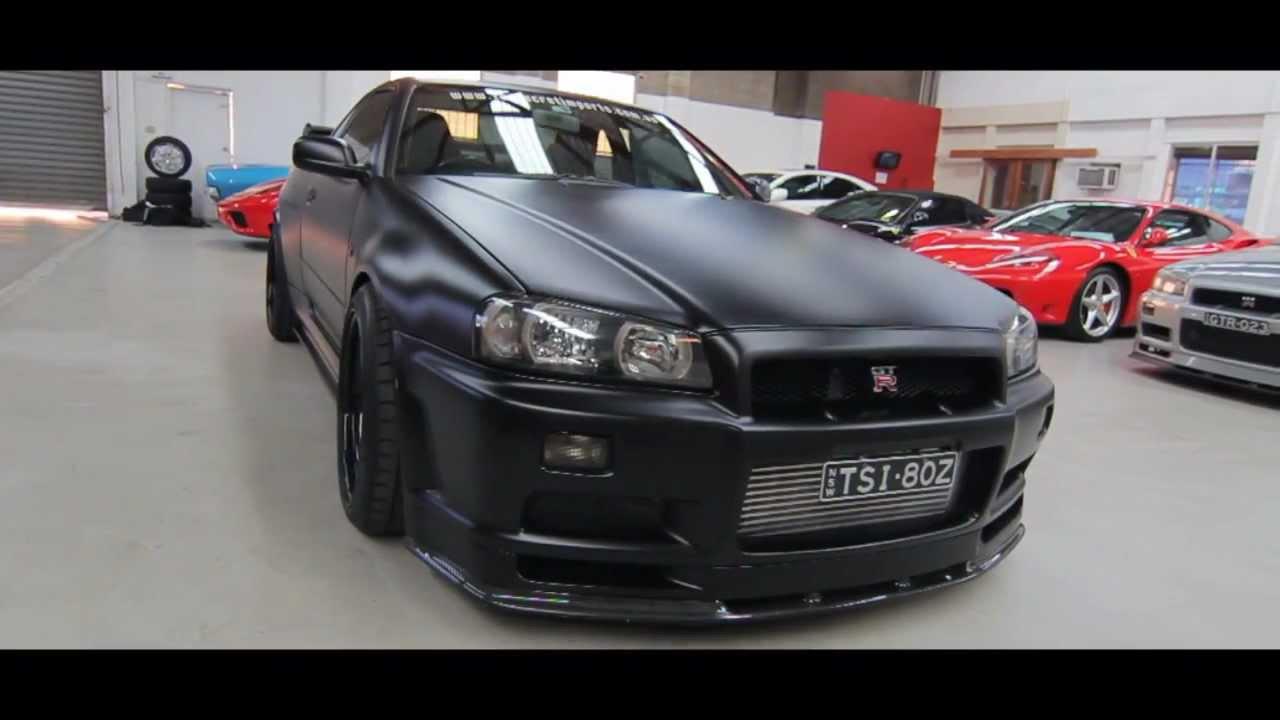 1999 R34 Gtr V Spec Matte Black 500kw Top Secret Imports