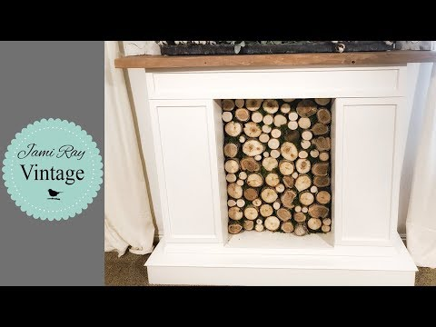 Faux Stacked Fireplace Insert DIY