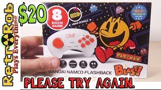 Walmart Exclusive Namco Bandai Flashback Blast! Unboxing, Gameplay and Review.