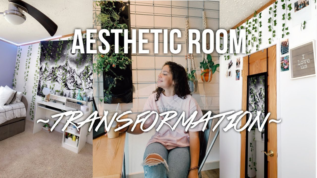 ROOM TRANSFORMATION *aesthetic vsco/pinterest inspired bedroom