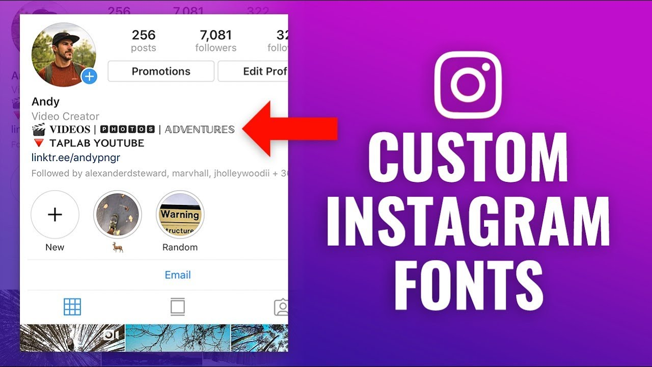 fonts instagram
