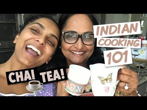 How to make Indian CHAI for Beginners ft. Mama Pandu!!   Deepica Mutyala