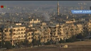 Syria regime strikes and shelling target IS group in Damascus(2)