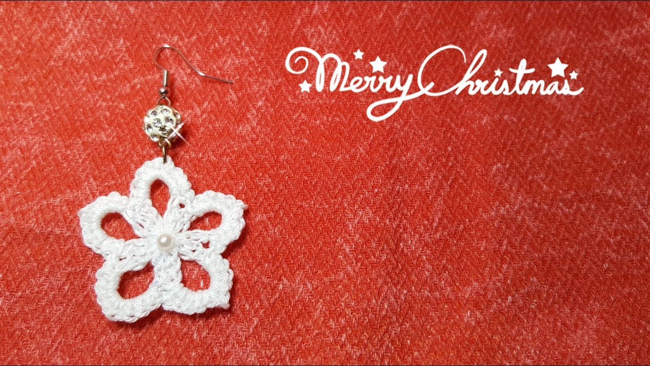 Regali Di Natale Alluncinetto.Orecchini All Uncinetto Facilissimi Regali Di Natale Fai Da Te Crochet Earrings Christmas Gift Diy Youtube