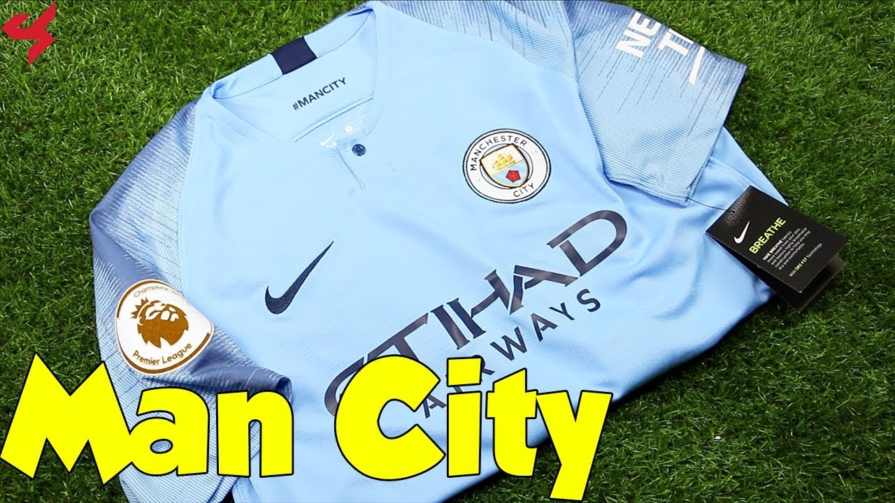 free shipping e1b07 9e671 Nike Manchester City De Bruyne 2018/19 Home Soccer Jersey Unboxing + Review