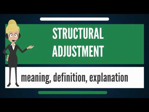 What is STRUCTURAL ADJUSTMENT? What does STRUCTURAL ADJUSTMENT mean?