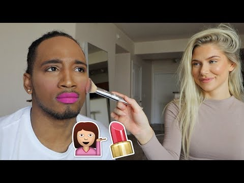 GIRLFRIEND DOES BOYFRIENDS MAKEUP CHALLENGE!!! thumbnail