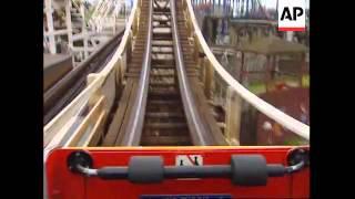 UK: WORLD RECORD BREAKING ROLLERCOASTER MAN CONTINUES RIDE