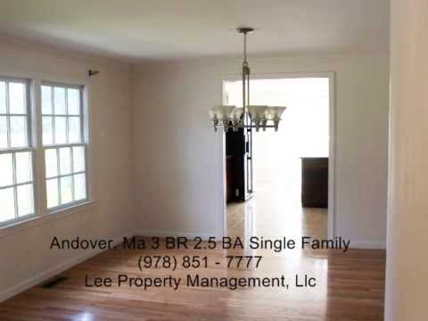 Andover Ma Single Family home for rent Available immediately Lots of Space Convenient Location