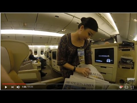 Singapore Airlines Business Canberra to Singapore SQ 292 Full Flight Review