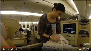 Canberra to Singapore in Business Class Singapore Airlines SQ 292 Full Flight Review