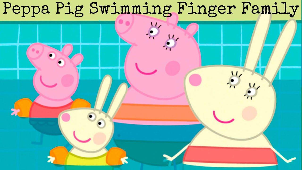 Peppa Pig Swimming Pool Finger Family Song Nursery Rhyme Kids Toddlers Youtube