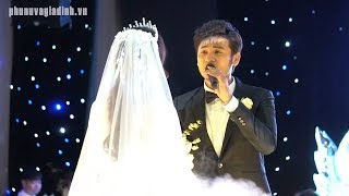 """Đám cưới Vũ Ngọc Ánh: Anh Tài hát """"Tâm sự Tuổi 30"""" và hôn vợ cực lãng mạn"""