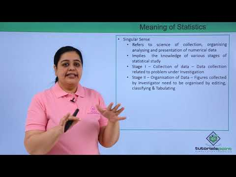 Meaning Of Statistics
