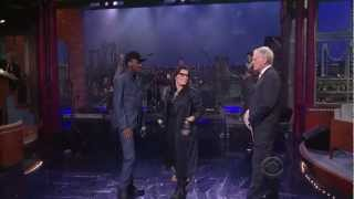 K'naan  feat. Nelly Furtado - Is Anybody Out There (Live Late Show With David Letterman 2012-02-23)