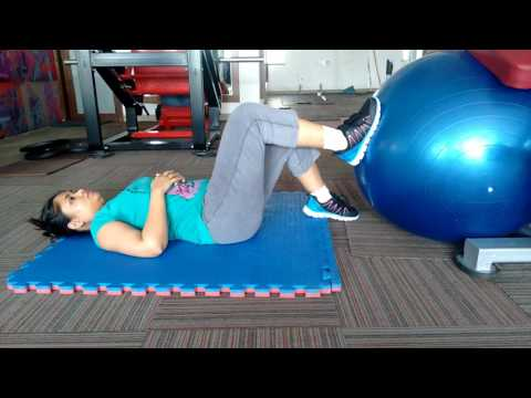 Ankle fracture rehabilitation swiss ball stability exercises